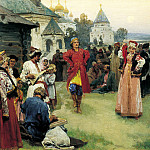 900 Classic russian paintings - LEBEDEV Claudius - Dance
