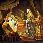 Kapka Jacob - Healing Metropolitan Alexei Tayduly, wife Chanibeka, Khan of the Golden Horde, 900 Classic russian paintings