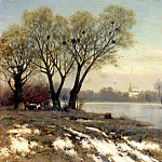Kryzhitsky Constantine - Early Spring, 900 Classic russian paintings