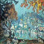 900 Classic russian paintings - Gorbatov Constantine - sunken city
