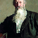 900 Classic russian paintings - Ilya Repin - Portrait of Vladimir Stasov. 1883