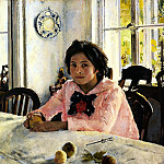 900 Classic russian paintings - Valentin Serov - Girl with Peaches