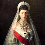 900 Classic russian paintings - Kramskoy Ivan - Portrait of Empress Maria Feodorovna