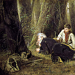 Perov Vasily – Fowler, 900 Classic russian paintings