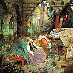 900 Classic russian paintings - Vasnetsov Victor - Sleeping Princess