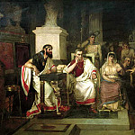 The Apostle Paul explains the Christian in the presence of King Agrippa, his sister Bernice, and the proconsul Festus, Vasily Ivanovich Surikov