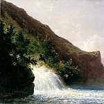 Meshchersky Arseny - Waterfall, 900 Classic russian paintings