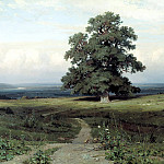 Among the open valley ..., Ivan Ivanovich Shishkin