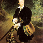 900 Classic russian paintings - BRYULLOV Karl - Portrait of the poet and playwright Alexei Konstantinovich Tolstoy in his youth
