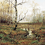 VOLKOV Yefim – In the woods. In spring, 900 Classic russian paintings