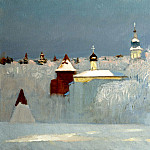900 Classic russian paintings - ANOKHIN Nikolai - Russian Winter