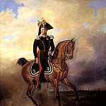 Timm, Vasily - Portrait of Emperor Nicholas I on horseback, 900 Classic russian paintings