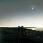 900 Classic russian paintings - Kuindzhi Arkhip - Night