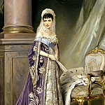 900 Classic russian paintings - Makovsky Vladimir - Portrait of Empress Maria Feodorovna