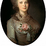 Rocot Fyodor - Portrait of Varvara Nikolaevna Surovtseva, 900 Classic russian paintings