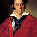900 Classic russian paintings - Tropinin Vasily - Portrait of Konstantin Georgievich Ravich. 1823