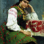 Ilya Repin - Portrait of Sophia, 900 Classic russian paintings