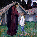 900 Classic russian paintings - NESTEROV Michael - Christ blessing the lad Bartholomew