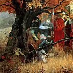 900 Classic russian paintings - Shankov Michael - ambushed Regiment