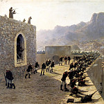 Lagorio Lev - Rebuffed by the assault on the fortress Bayaset June 8, 1877, 900 Classic russian paintings