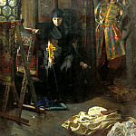 900 Classic russian paintings - MATVEEV Nick - against the will tonsure