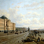 VERESHCHAGIN Peter – Neva Embankment, 900 Classic russian paintings