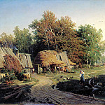 900 Classic russian paintings - Fedor Vasiliev - Village