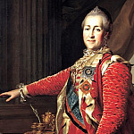 Levitsky Dmitry - Portrait of Catherine II. Okolo1782, 900 Classic russian paintings