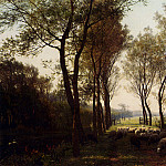 Bakhuyzen Julius Jacobus Van De Sande A Shepherdess And Her Flock On A Country Lane, Dutch painters