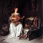 BEGA Cornelis Woman Playing A Lute, Cornelis Bega