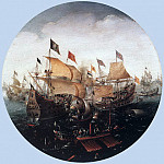 Голландские художники - ANTHONISZ Aert Sea Battle Between Dutch And Spanish Boats