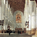 BERCKHEYDE Job Adriaensz Interior Of The St Bavo Church At Haarlem, Dutch painters