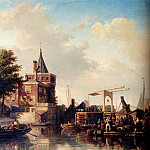 Голландские художники - Bommel Elias Piter Van View Of The Schreierstoren Amsterdam In Summer