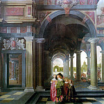 Голландские художники - Palace Courtyard with Figures WGA