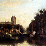Dutch painters - Rossum Du Chattel Fredericus Jacobus Van A View Of The Kleine Haven In Dordrecht