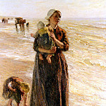 Голландские художники - Blommers Bernhardus Johannes On The Beach
