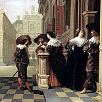 DELEN Dirck van Conversation outside a Castle, Dutch painters