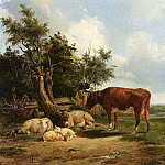 Berg Simon Van Den An Extensive Landscape With Cattle Resting, Dutch painters