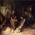 Голландские художники - Laguana Baruch Leao Lopes De A Farm Interior With A Peasant Family