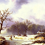 Bodemann Willem A Winter Landscape, Willem Bodemann