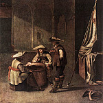Dutch painters - Guardroom with Soldiers Playing Cards WGA