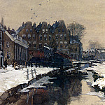 Dutch painters - Mastenbroek Johan Hendrik Van A Canal Scene In Winter