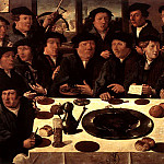 Голландские художники - ANTHONISZ Cornelis Banquet Of Members Of Amsterdams Crossbow Civic Guard