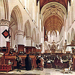Dutch painters - BERCKHEYDE Gerrit Adriaensz The Interior Of The Grote Kerk St Bavo At Haarlem