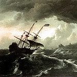 Dutch painters - BACKHUYSEN Ludolf Ships Running Aground In A Storm