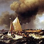 Dutch painters - Backhuysen 96Boats