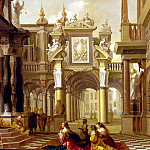 Delen Dirck Christiaensz Van Solomon Receiving The Queen Of Sheba, Dirck Van Delen