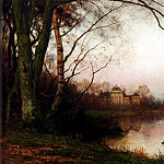 Bakhuyzen Julius Jacobus Van De Het Haagse Bos With Huis Ten Bosch In The Distance, Dutch painters