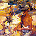 Spanish artists - Sotomayor Y Zaragoza Fernando Alvarez De Mending The Nets