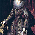 GONZALEZ Bartolome Queen Margarita of Austria 1502, Spanish artists
